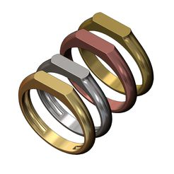 Slot-signet-ring-00.JPG Download 3MF file 2 Slot wedding and engagement low profile signet ring 3D print model • Template to 3D print, RachidSW