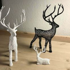 IMG_5121_2.JPG Download free STL file Deer Voronoi • Model to 3D print, tamashi