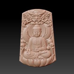 Buddha_with_dragon_background1.jpg Télécharger fichier STL gratuit Bouddha avec fond de dragon • Modèle pour imprimante 3D, stlfilesfree