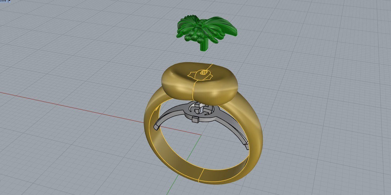 fg.jpg Download free STL file Gucci Ring Earring Pendant Necklace Bee Jewelry 3D print model • 3D printer design, Cadagency
