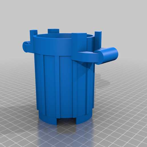one_file.png Download free STL file Small Trash Can (Lego look like) • 3D printer template, GedeonLab