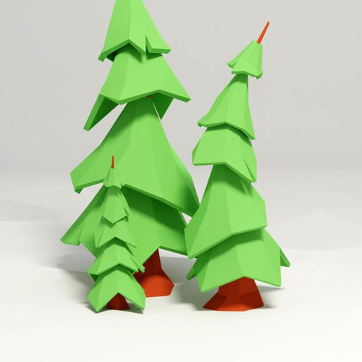 Sapin2.jpg Download free STL file Lowpoly Fir • Object to 3D print, KernelDesign