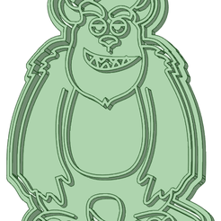 Sullivan-75_e.png Download STL file Sullivan Monsters Inc 75mm cookie cutter • 3D printable object, osval74