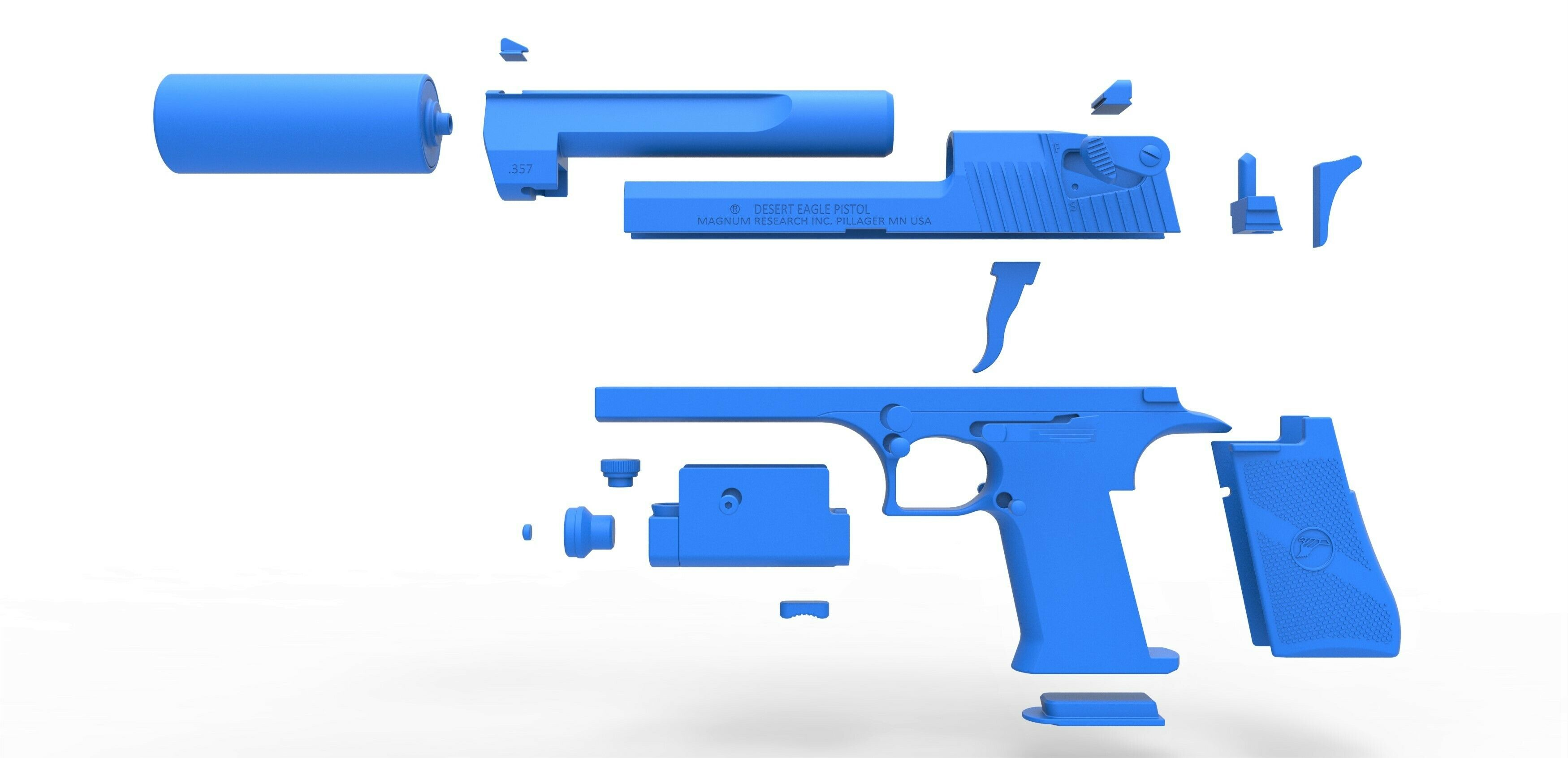 65.jpg Download STL file Desert Eagle pistol from the movie Universal Soldier 1992 • 3D printable template, CosplayItemsRock