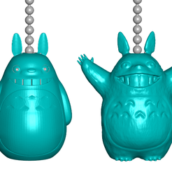TPfront.png Download free STL file Totoro Pull Ball Chain, Keychain Knob   Handle   Fob   Finials • 3D printing model, ToaKamate