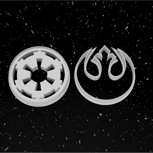 logo imperio y resustencia.png Download STL file Pack x12 Cookie cutters Star Wars • 3D printable template, 3dokinfo