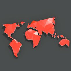 00.jpg Descargar archivo STL gratis Mapamundi Low Poly (World map) • Plan de la impresora 3D, El_Chinchimoye