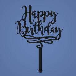 1651651651651.png Descargar archivo STL TOPPER HAPPY BIRTHDAY • Modelo para imprimir en 3D, FARRUQUITO