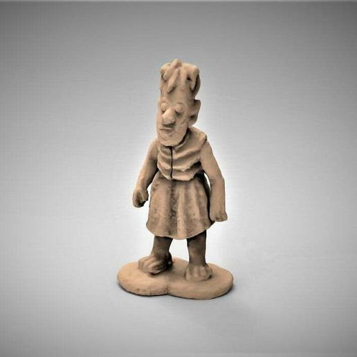 OrcChild.JPG Download free STL file Red Orc Child / Girl - 3D Scan • Design to 3D print, BigMrTong