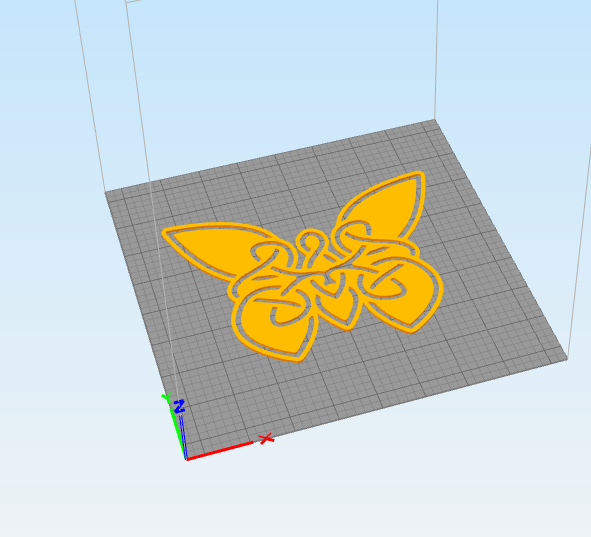 fly.png Download STL file wall decor celtic butterfly • 3D printable model, satis3d