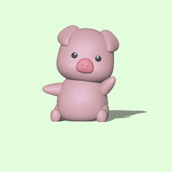 Pig1.PNG Download STL file  Cute Pig  • 3D print design, usagipan3dstudios