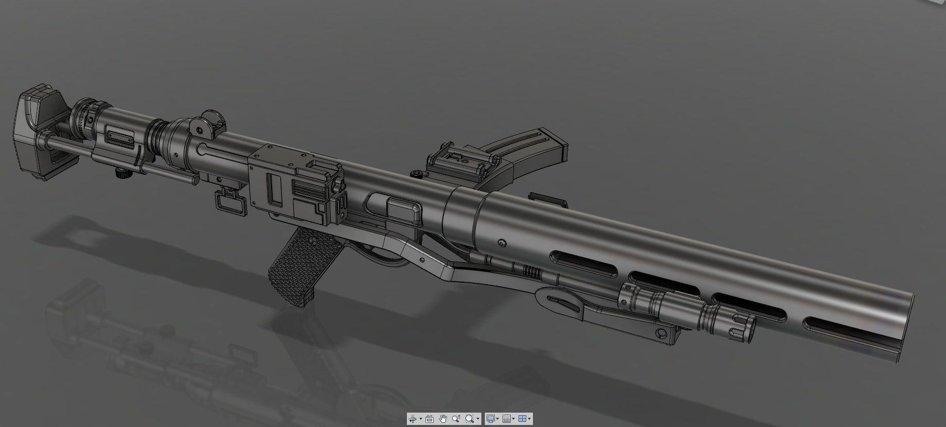 5.jpg Download STL file The E-11D blaster rifle • 3D printing template, 3dpicasso