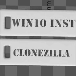 tag.jpg Download free STL file Windows 10 and Clonezilla Tag for USB drives • 3D printable object, syzguru11