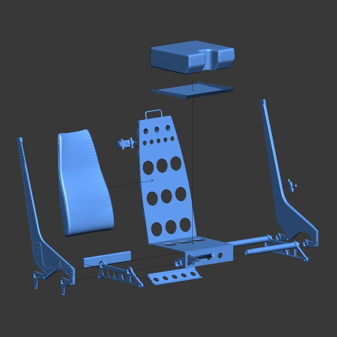 Lynx-seat01.jpg Download STL file Scale helicopter seats. Westland Lynx 1:8 seats. • Model to 3D print, tahustvedt