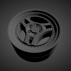 Untitled-Scene-(2).png Download OBJ file ADVAN SA3 scalable and printable rims • Model to 3D print, rob3rto
