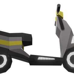 SCOOTERLOWPOL2Y.png Download STL file SCOOTER LOW POLY • 3D printable template, Rauul19