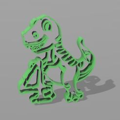dino 4 años.JPG Download STL file dino number 4 cookie cutter • Object to 3D print, Geralp
