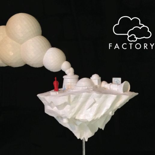 cloud-fact2_preview_featured.jpg Download free STL file Cloud Factory • 3D printer template, isaac