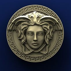 A010. Medallion.jpg Download free STL file Versace Medallion • 3D printing model, stl3dmodel