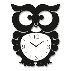 eoxl6dgo.jpg Download STL file Owl Wall Clock cnc - laser cut • 3D printable object, dddmodeling