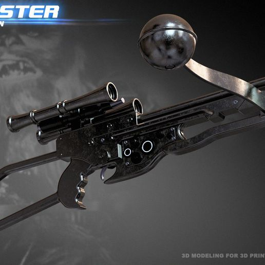 3.jpg Download STL file Bowcaster Wookiee Crossbow • Model to 3D print, 3dpicasso