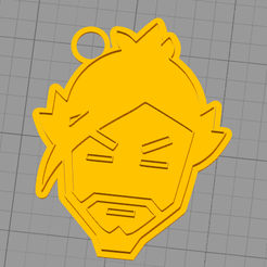 hanzo.png Download STL file key chain overwatch hanzo key ring • 3D printer object, Dexter07
