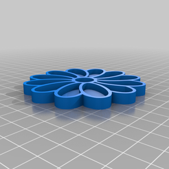 daisy_stamp.png Download free STL file Daisy Cookie Cutter and Stamp • 3D printer template, nerfherder
