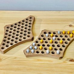 CF072AE5-9CC2-48B0-860C-44BAB9D59B00.jpeg Download STL file Chinese Checkers for Two Board Game • 3D printing design, lazybear3d
