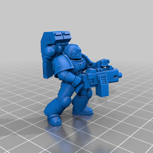 1_HeavyMG.png Download free STL file Angelic Space Soldiers with Heavy Weapons • Template to 3D print, PhysUdo