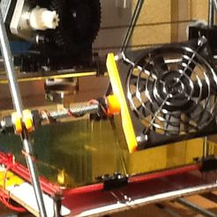 Soporte.jpg Download free STL file Support for auxiliary fan • Design to 3D print, Black_knight