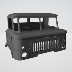 Capture.PNG Download STL file truck cab (body) gas66 1/10 • 3D print template, RCGANG93