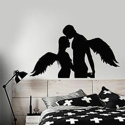 angels.jpg Download STL file Couple Hugging Wall sticker Angels • 3D printer object, samlyn696