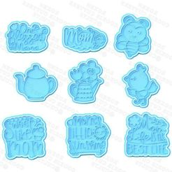 1-—-копия.jpg Download STL file Mothers day cookie cutter set of 9 • 3D printing design, roxengames