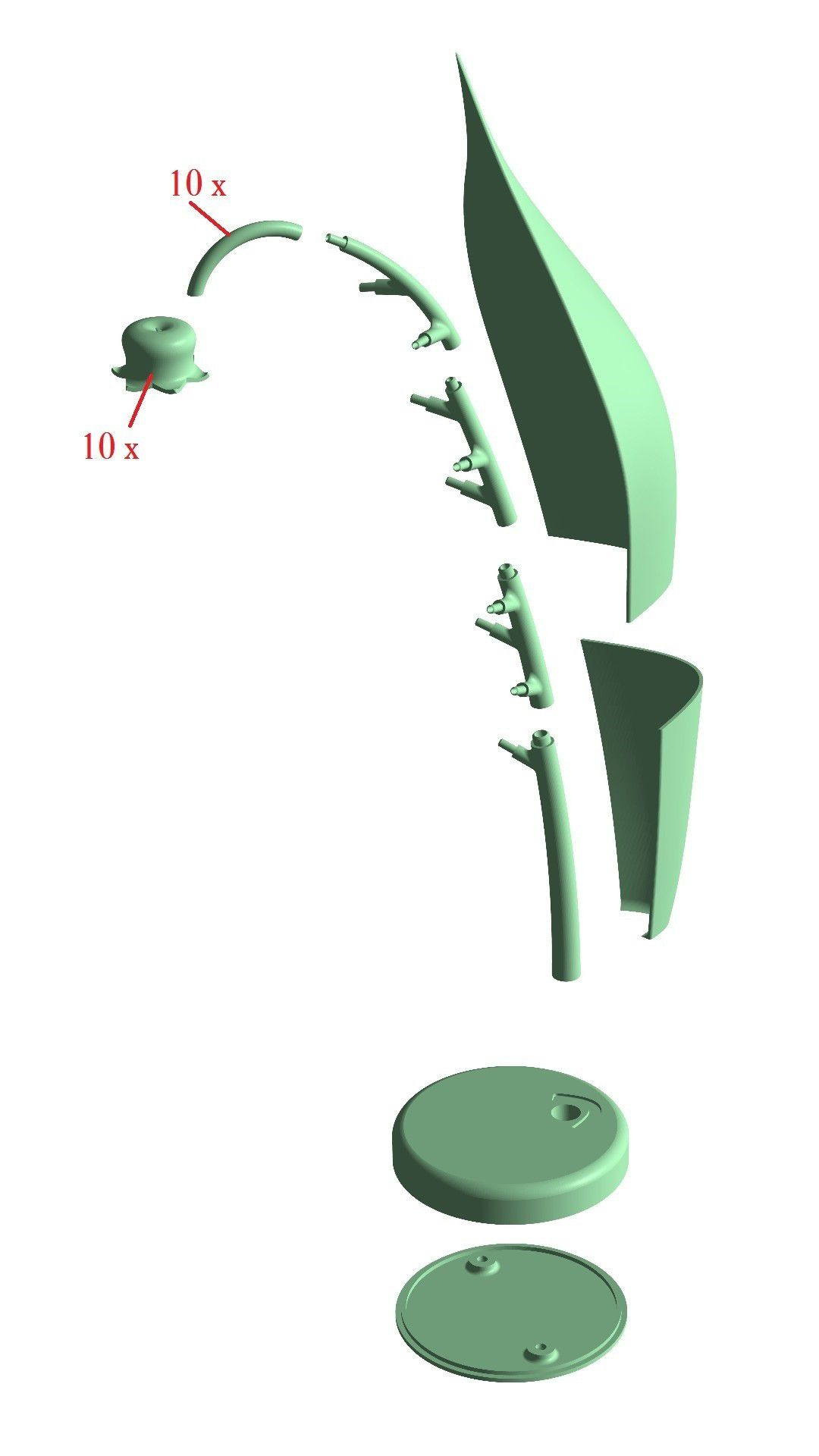 lily.jpg Download free STL file Lily of the valley lamp • 3D printer model, Protonik