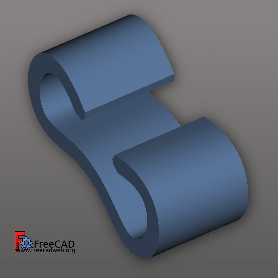 cableholder_freecad.png Download free STL file Cable Clip • Model to 3D print, compute4you