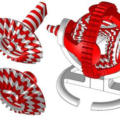Gears_Candy_Cane_Remix.jpg Download free STL file Gears - Candy Cane Remix • 3D printing design, savagerodent