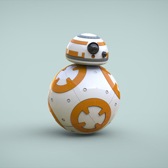bb8-final.png Télécharger fichier STL gratuit BB8 Droid - Star Wars: The Awakens de la Force • Objet pour impression 3D, Maxter