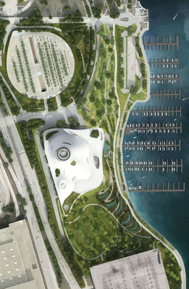 George_Lucas_Museum_-_Chicago_6.JPG Download free STL file George Lucas Museum of Narrative Art, Chicago IL - Scale Model • 3D printing design, futurefactory
