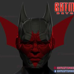 Batman_Beyond_helmet_3d_print_model-01.jpg Télécharger fichier STL Batman Beyond Helmet - Masque Cosplay de DC Comics • Design pour imprimante 3D, 3DPrintModelStoreSS