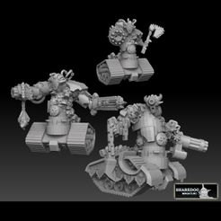 tank devils doublepacksquare.jpg Download STL file Tank Demon Megapack • Template to 3D print, SharedogMiniatures
