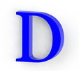 d3.png Download free STL file Letras / abecedario completo • Object to 3D print, Lubal