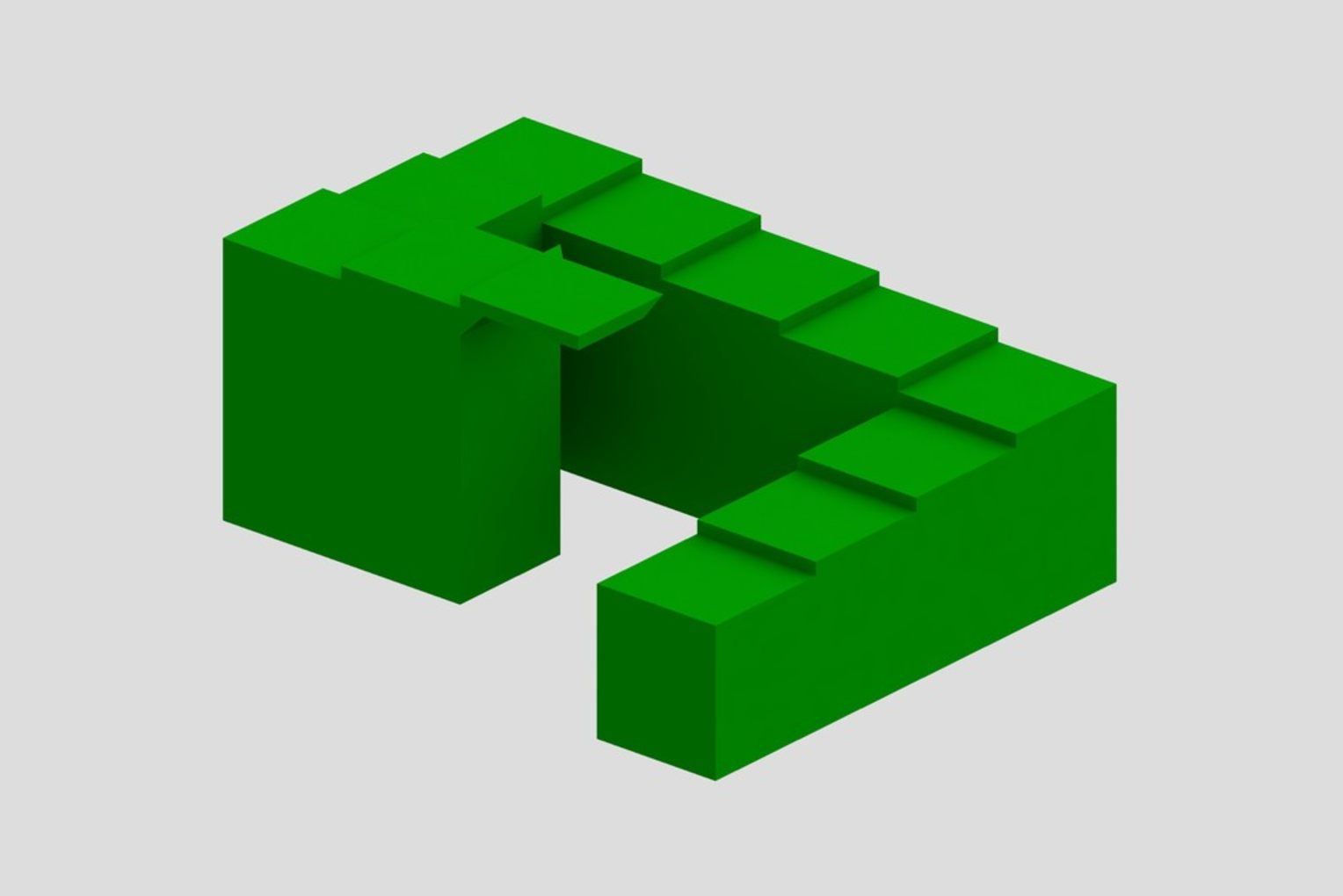 Capture d'écran 2017-04-12 à 14.51.29.png Download free STL file Impossible Stairs • 3D printing object, Chrisibub