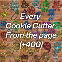 Every-Cookie-cutter.png Download STL file All The Cookie Cutter SETS +400 (50%) • Model to 3D print, davidruizo