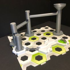 IMG_1403.jpeg Download free STL file Marble Run to Gravitrax Transition Ramps • 3D printable template, esmz