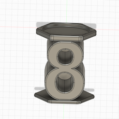 PORTE-BOUGIE-8-v2.png Download STL file Birthday candle holder number eight (8) • 3D printer model, Cybric
