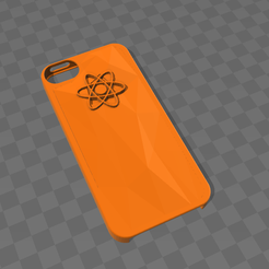 coque_orange_.png Download free OBJ file Iphone 5 orange case • 3D printable design, Yunorga