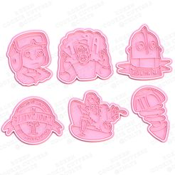 main.jpg Download STL file The Iron Giant cookie cutter set of 6 • 3D printer object, roxengames