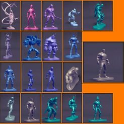 Poter_collection.jpg Download STL file Spidey character collection • 3D print object, briarena8185