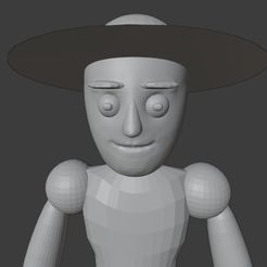 22222222222.jpg Download STL file basic figure sir with hat • Object to 3D print, sara0x0