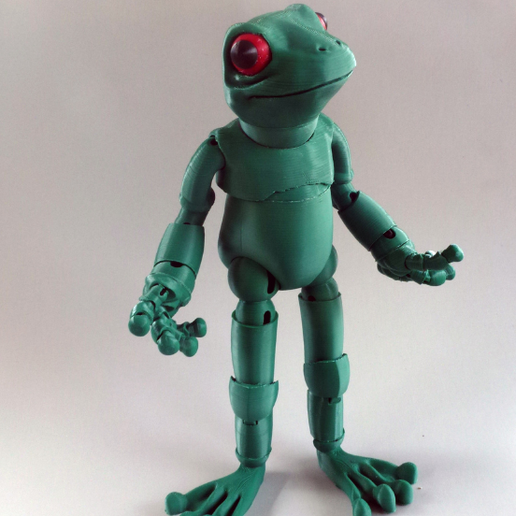 2.png Download free STL file Froggy: the 3D printed ball-jointed frog doll • Object to 3D print, loubie